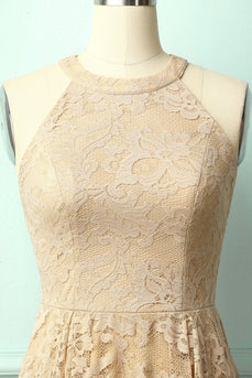 Champagne Lace Dress