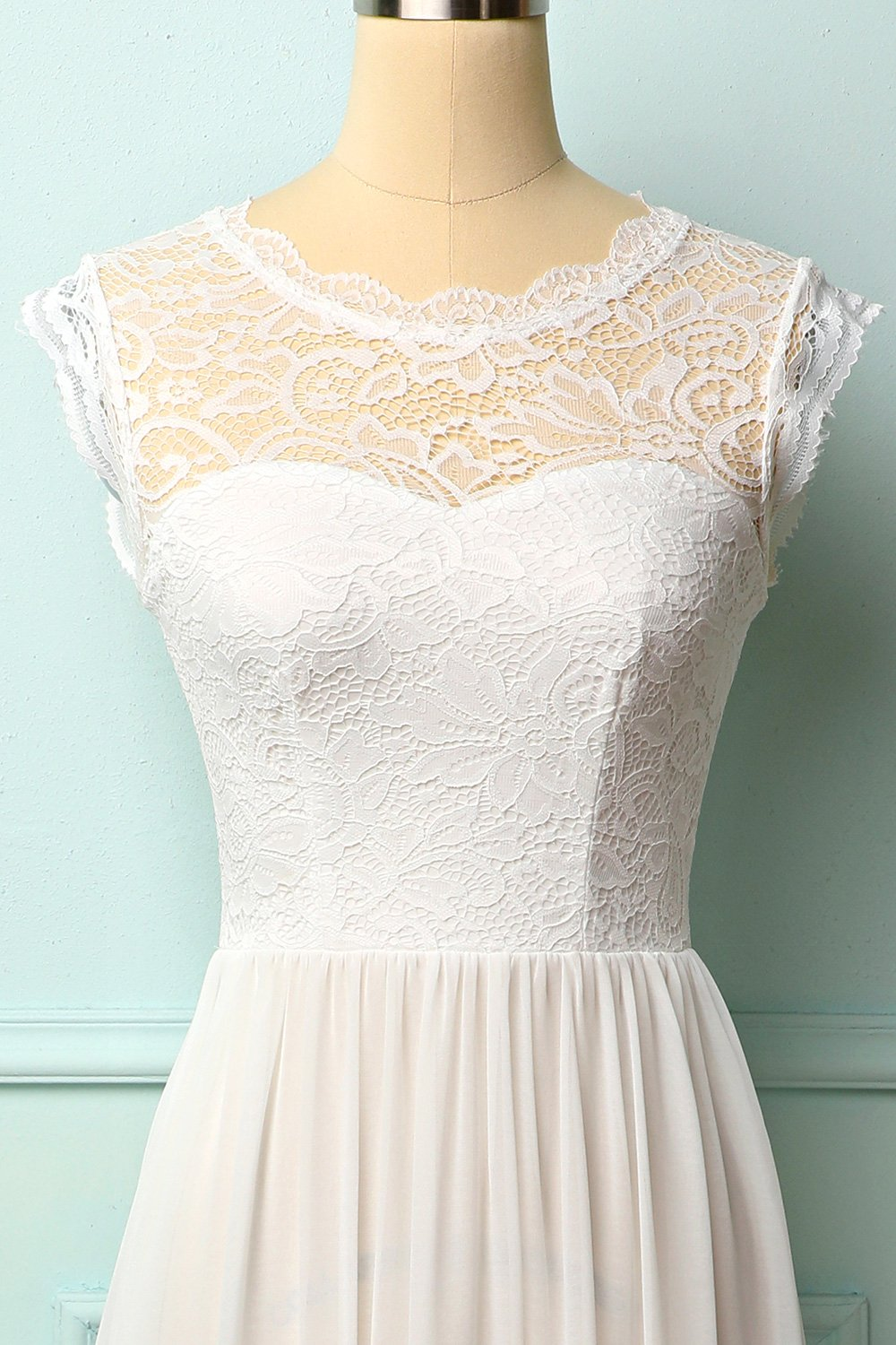 Formal White Lace Dress