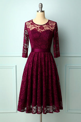Grape Rose Lace Dress