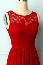 Load image into Gallery viewer, Red Lace Long Dress