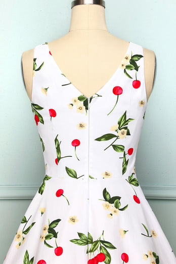 White Cherry Dress
