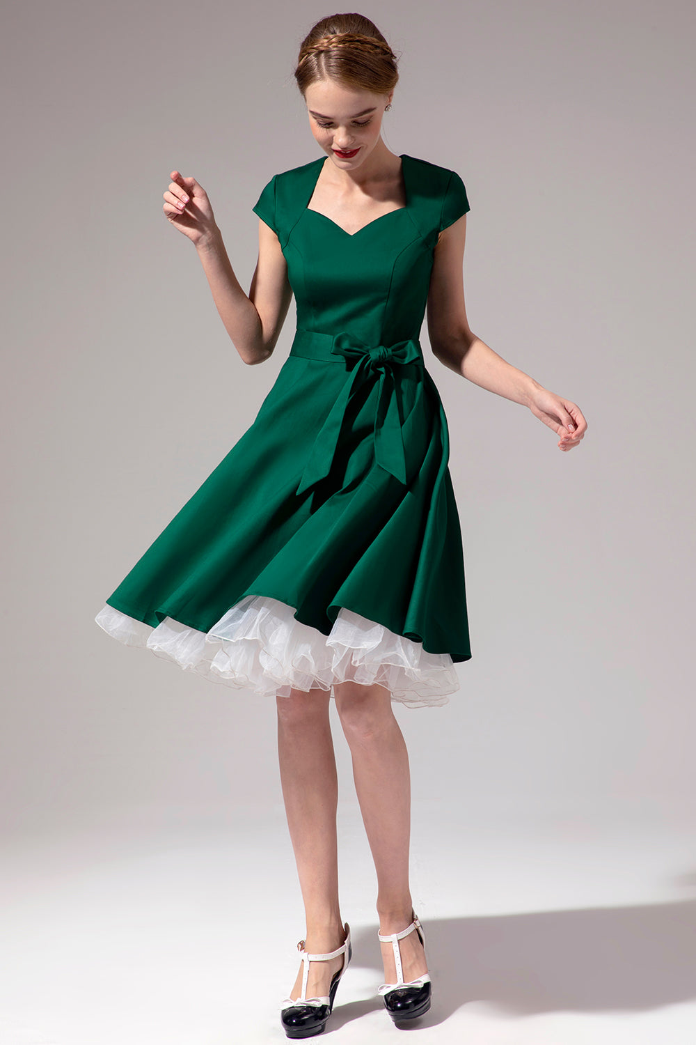 Green Scoop Swing Dress