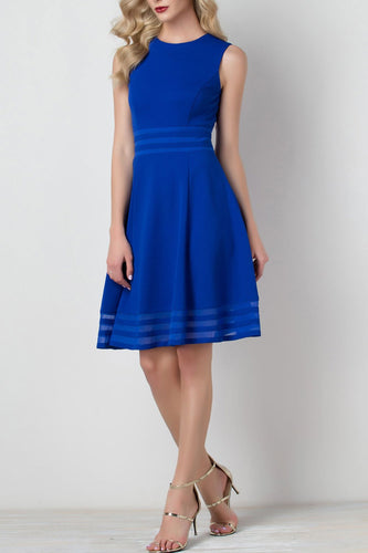 Solid Royal Blue Dress