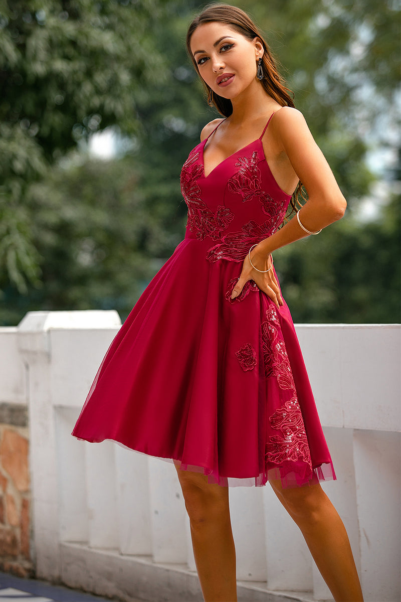 Load image into Gallery viewer, Red Prom Party Dress