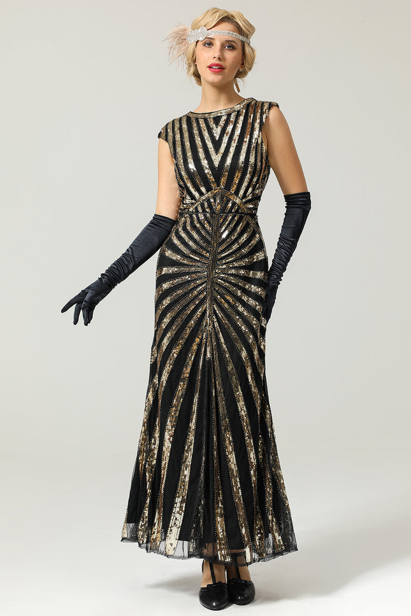 Load image into Gallery viewer, Mermaid 1920s Sequined Flapper Dress