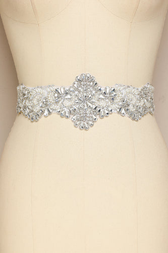 White Rhinstone Belt for Wedding