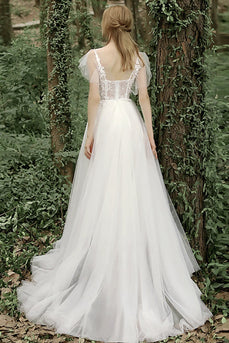 Sweetheart Neck Appliques Wedding Dress