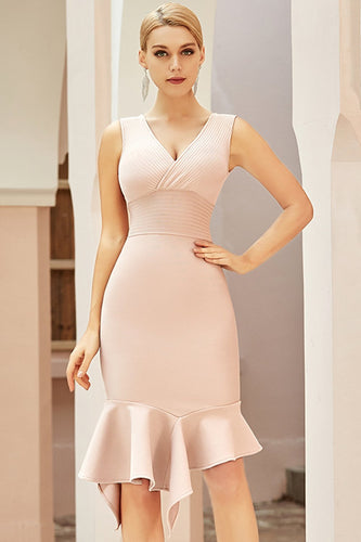 Mermaid Apricot Bodycon Dress