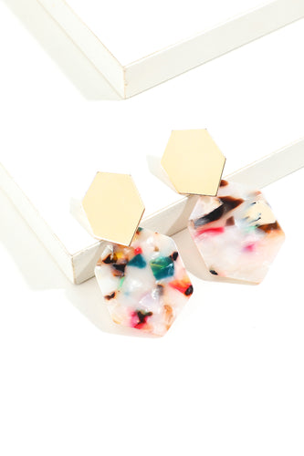 Geometry floral Earrings