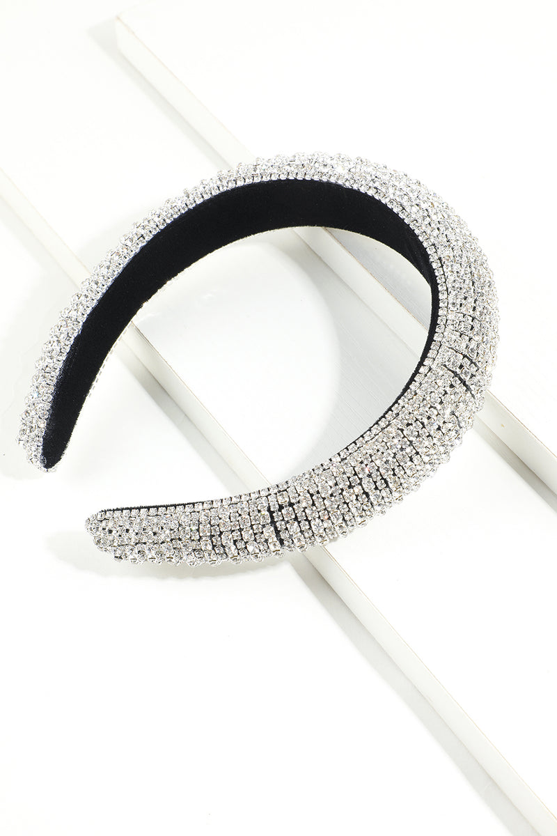 Load image into Gallery viewer, Glitter Silver Crystal Headband