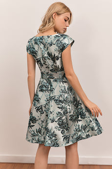 Flower Floral Satin Dress