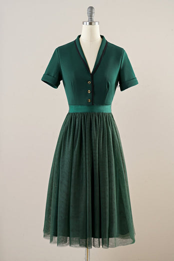 Green Tulle Vintage Dress
