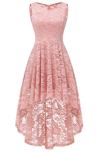 Blush High Low Lace Party Dress