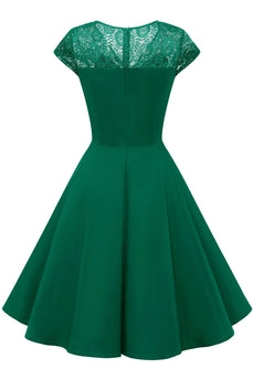 Green Vintage Swing 1950s Dress