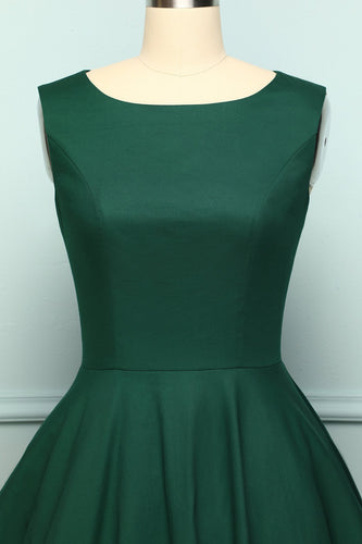 Dark Green Vintage Dress - ZAPAKA