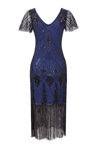 Royal Blue Flapper 1920s Sequins Dress