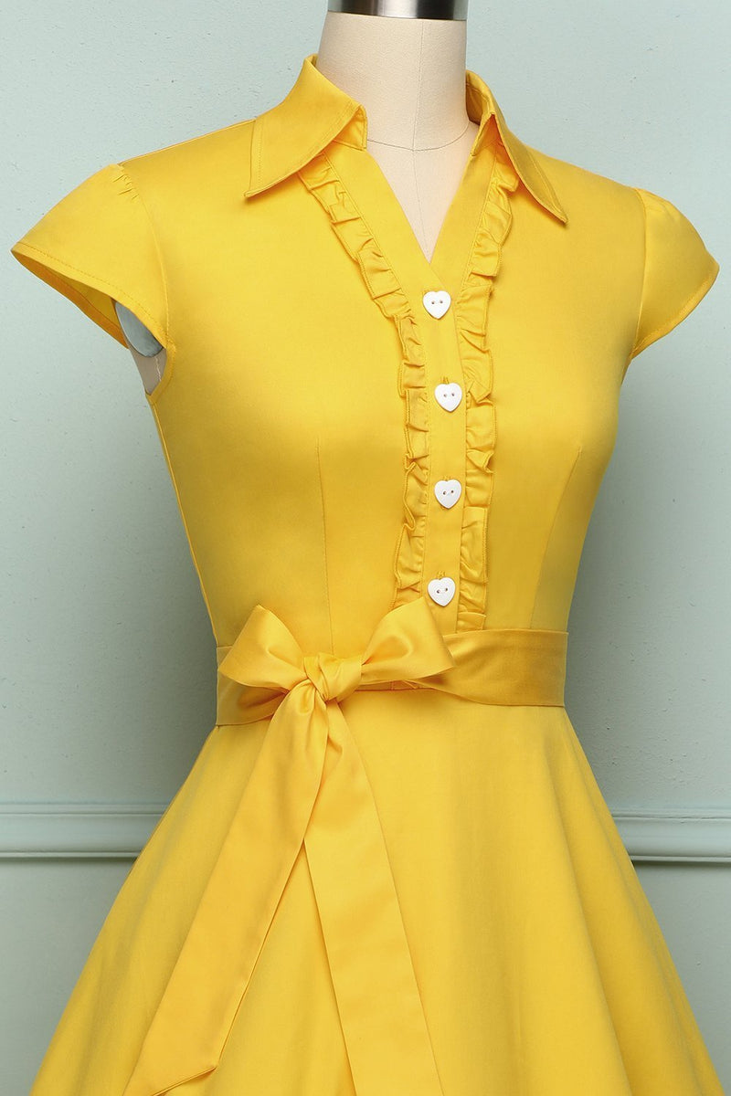 Load image into Gallery viewer, Yellow 1950s Swing - ZAPAKA