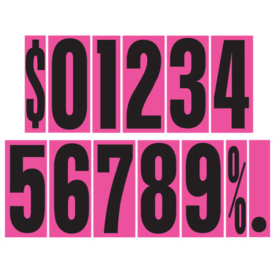 9 1/2 inch Hot Pink Adhesive Number