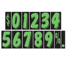 7 1/2 inch True Green & Black Adhesive Number