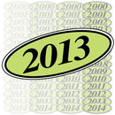 Chartreuse & Black Oval Year Model {EZ198-C}