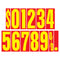 9 1/2 inch Red & Yellow Adhesive Number