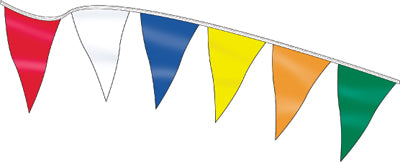 120ft. 12 x 18 Pennants {EZ308}