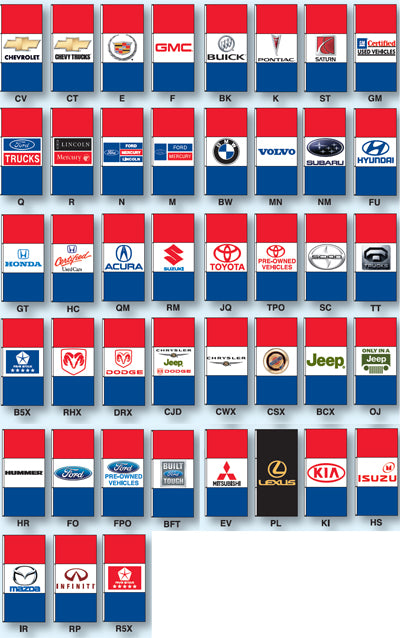 Everwave Horizontal Dealer Flag - Double Face {EZ349DB}