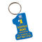Number 1 Shape Soft-Touch Key Fob {EZ471}