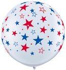 3ft. Red & Blue Star Balloon {EZ514-STAR}