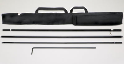 4-Piece Flat Top Flag Pole with Carry Case (EZ568}