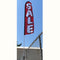 Custom Swooper Flag & Pole Kit w/Fence Straight Base {EZ828-CUSTD}