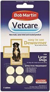 Vetcare Deworming Tablets Large Dog 5's