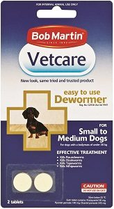 Vetcare Deworming Tablets Small/Medium Dog 2's