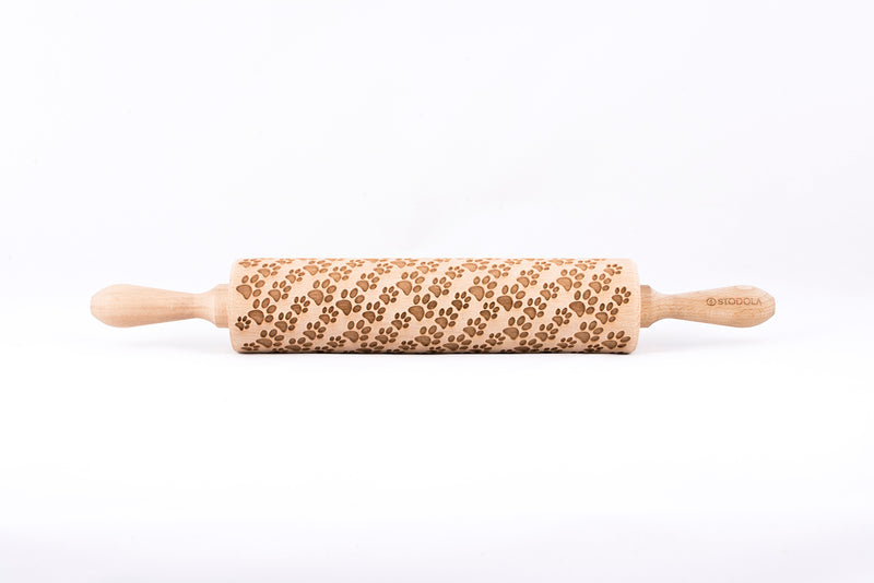 Rolling Pin Embossed with DOG PAWS