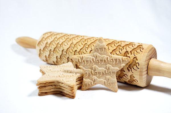 Rolling Pin Embossed with HORSES