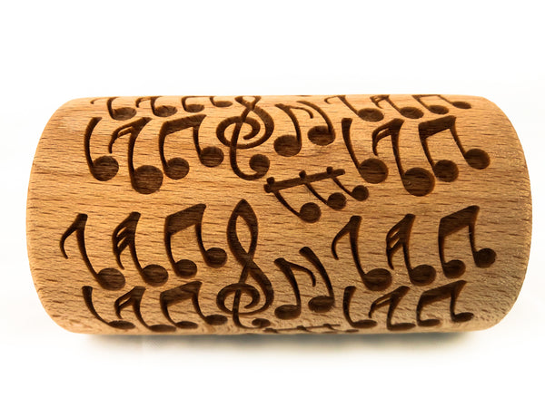 Rolling Pin Embossed With CRAZY NOTES Pattern For Baking Engraved cookies Size Roller 4 inch