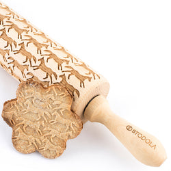 Rolling Pin Embossed with RUNNING HORSES
