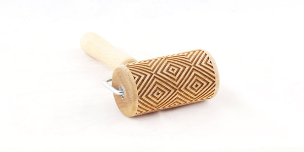 Rolling Pin Embossed With GEOMETRICAL SQUARES