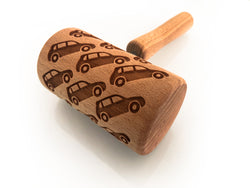 Rolling Pin Embossed With TOY CAR Pattern For Baking Engraved cookies Size Roller 4 inch