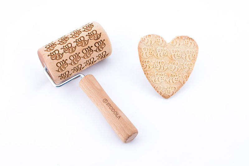 Rolling Pin Embossed With LOVELY BEES