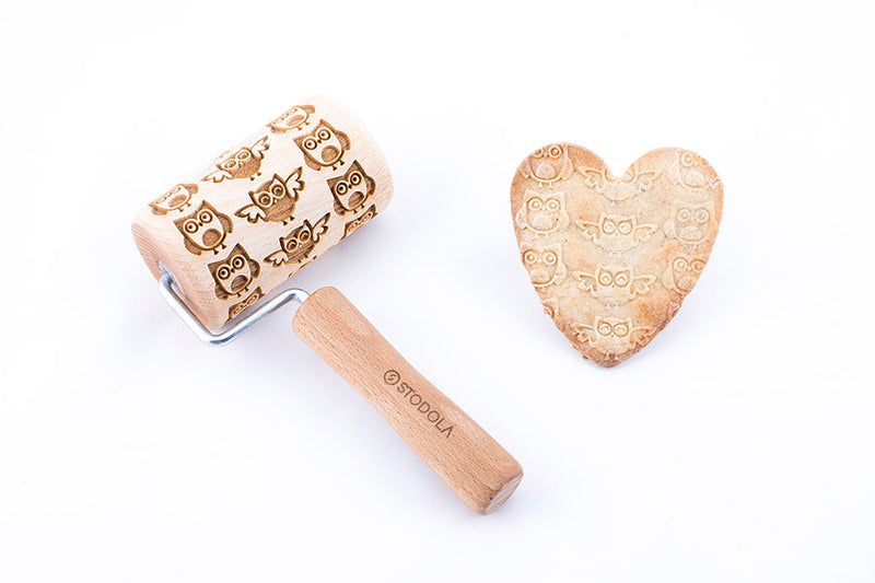Rolling Pin Embossed with OWLS