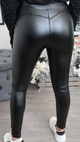 High Shine Leather Leggings
