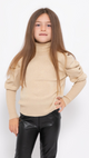Puff Sleeve Polo Neck