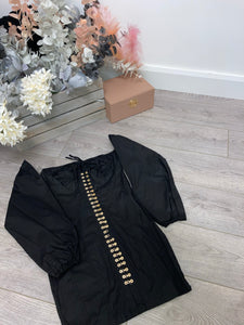 Chain detail dress