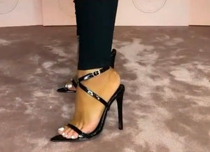 Black Tie Up Heel