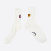 Rostersox 'Tiger' Socks in White