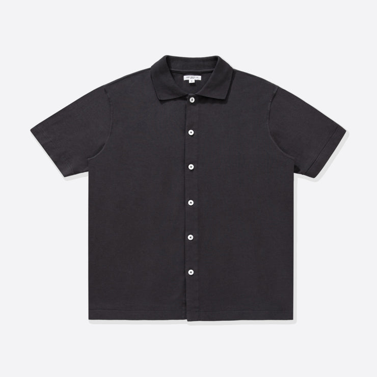 Lady White Co. Placket Polo in Tire Black