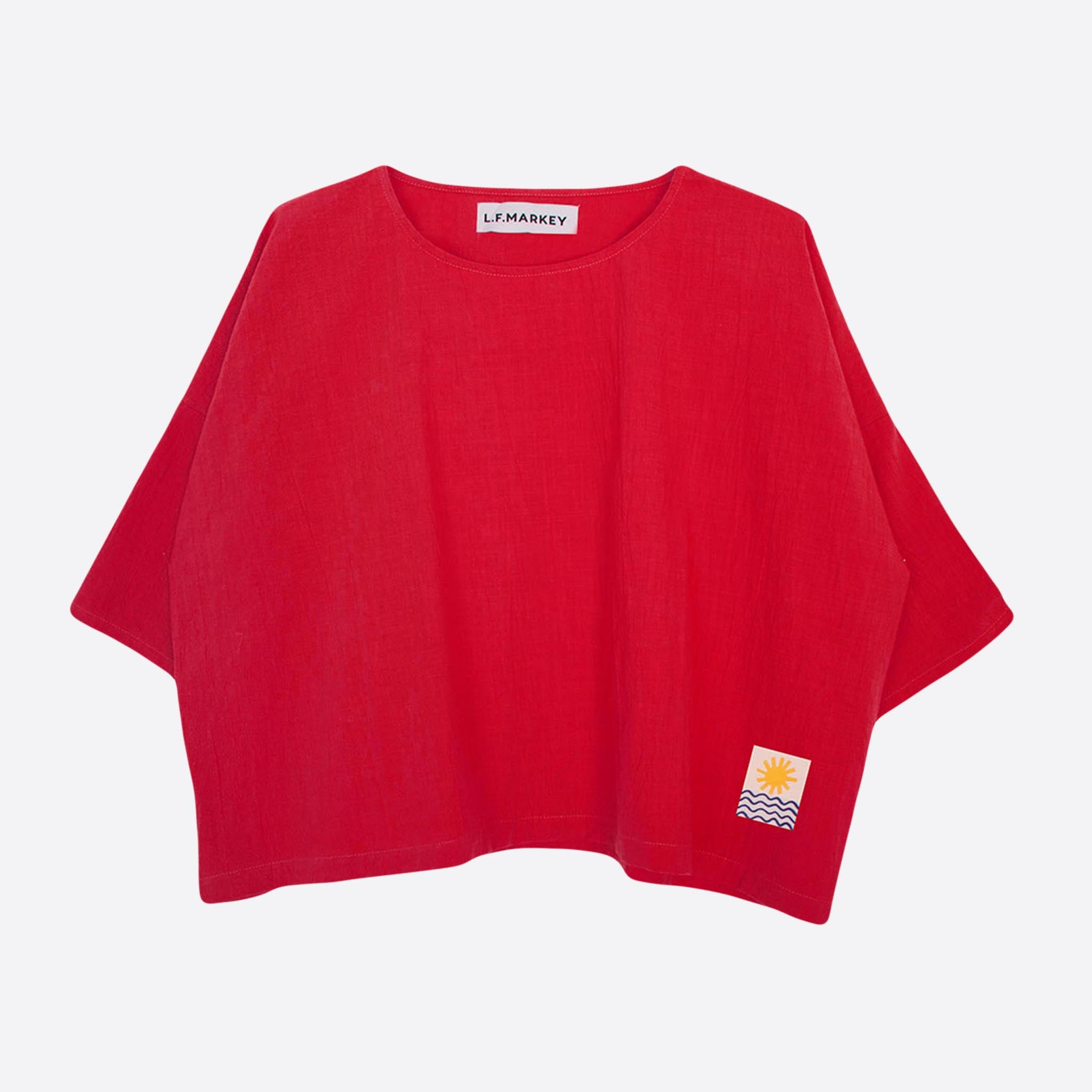 LF Markey Basic Linen Top in Red