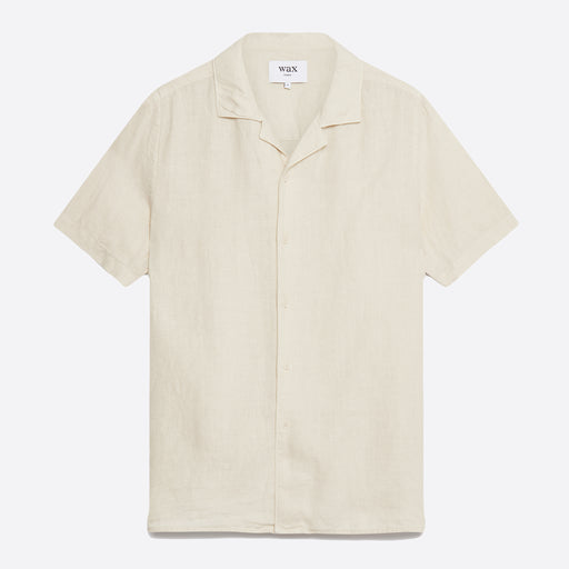Wax London Didcot Shirt in Oyster Grey Linen