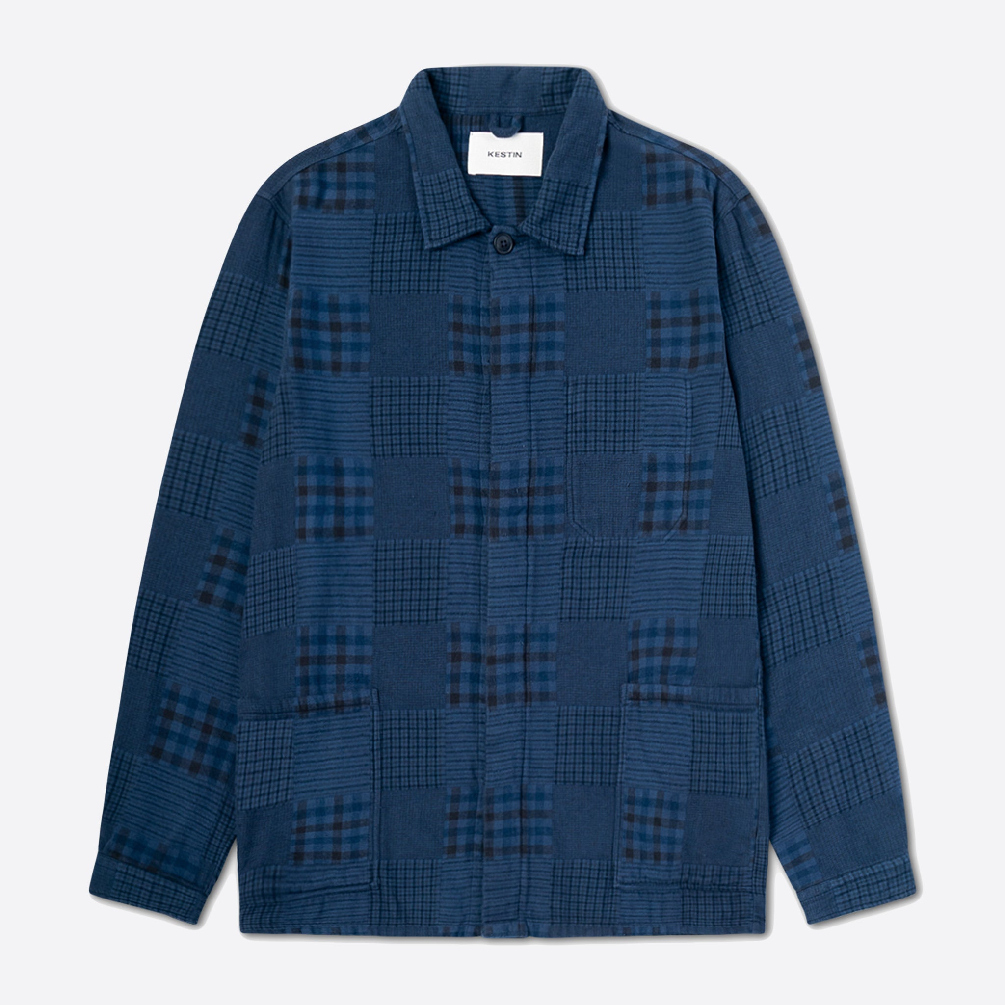 Kestin Hare Arbroath Shirt Jacket in Overdyed Woven Patchwork